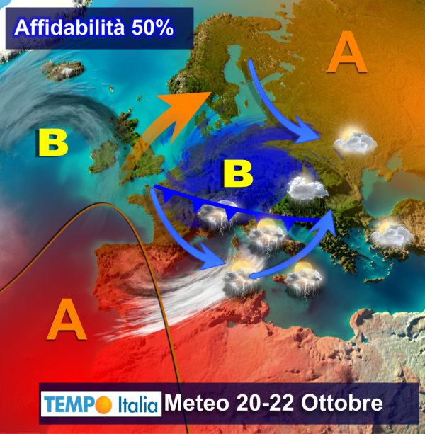 METEO tendenza ITALIA. Nuova sciroccata e TEMPERATURE molto MITI a fine Ottobre