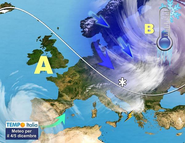 Italia nel freezer, arriva il gelo