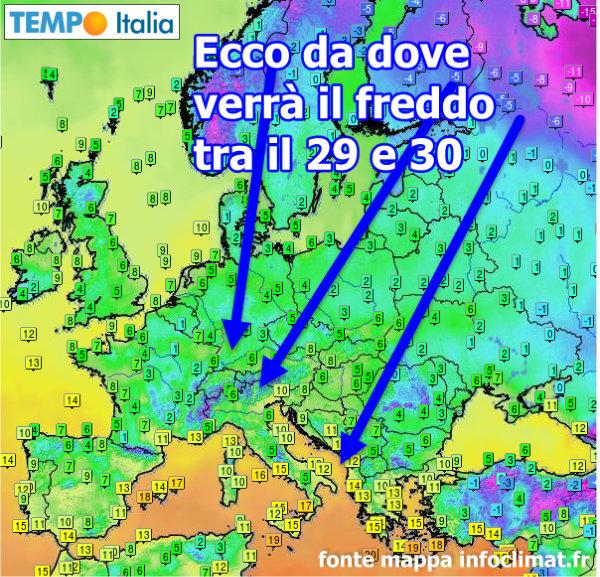 Gelo in arrivo sull'Italia: previsioni meteo per i prossimi giorni