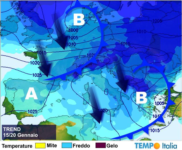 Italia nella morsa del gelo, neve anche al Sud