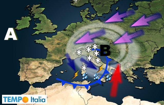 Maltempo, torna il gelo: domenica rischio neve anche a Roma