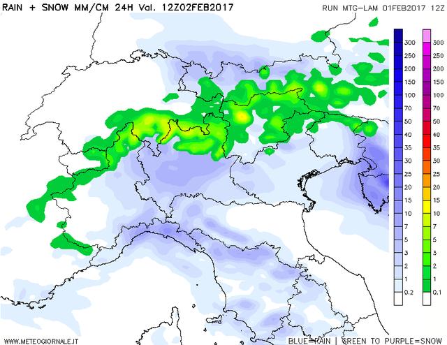 Meteo, previsioni: in arrivo pioggia e neve al Nord