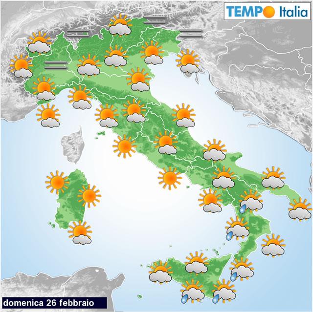 Previsioni meteo per il weekend: piogge residue, poi bel tempo