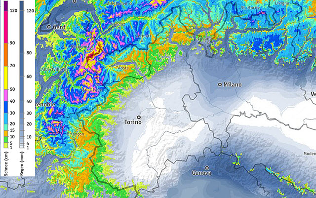 Allerta maltempo: pioggia, vento e neve sulle Alpi: weekend a rischio
