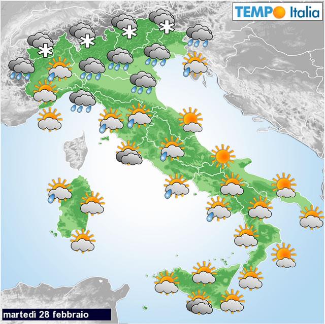 Meteo italia peggioramento del tempo oggi e nuovamente da - Il meteo bagno di romagna ...