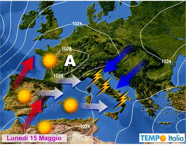 Meteo: temporali al Centro-Sud, arriva Hannibal al Nord, ecco le previsioni