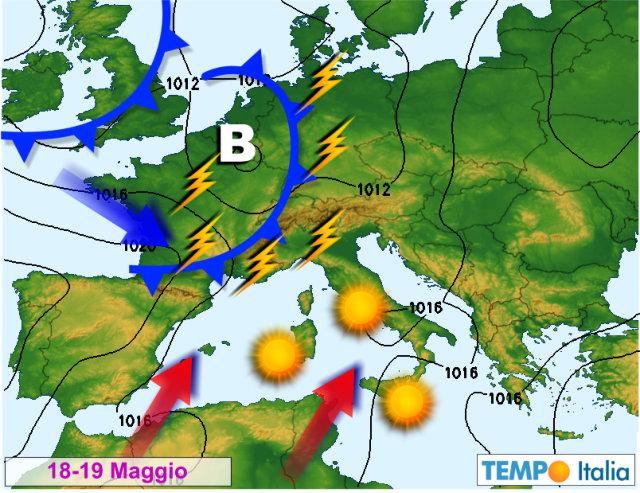 Meteo. Maltempo al Nord. Stabile sul Centro Italia e al Sud