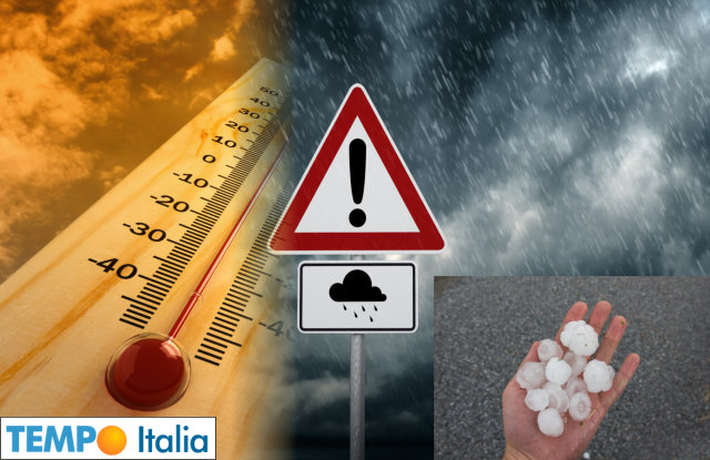 Meteo raid temporalesco in arrivo. Grandinate a Nord, temperature in calo
