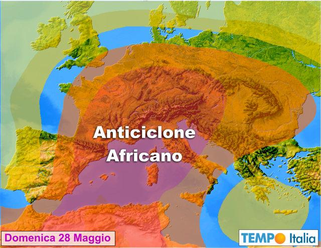Caldissimo anticiclone verso Italia foriero di temporali. I come mai