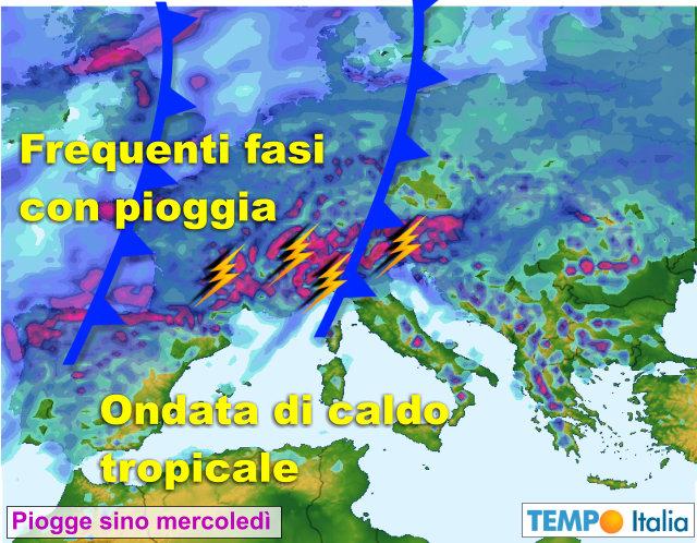 Maltempo, grandine e temporali in atto al Nordest