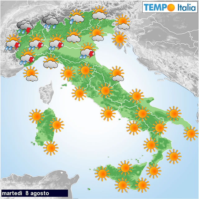 Meteo: allerta temporali Protezione Civile, temperature in calo