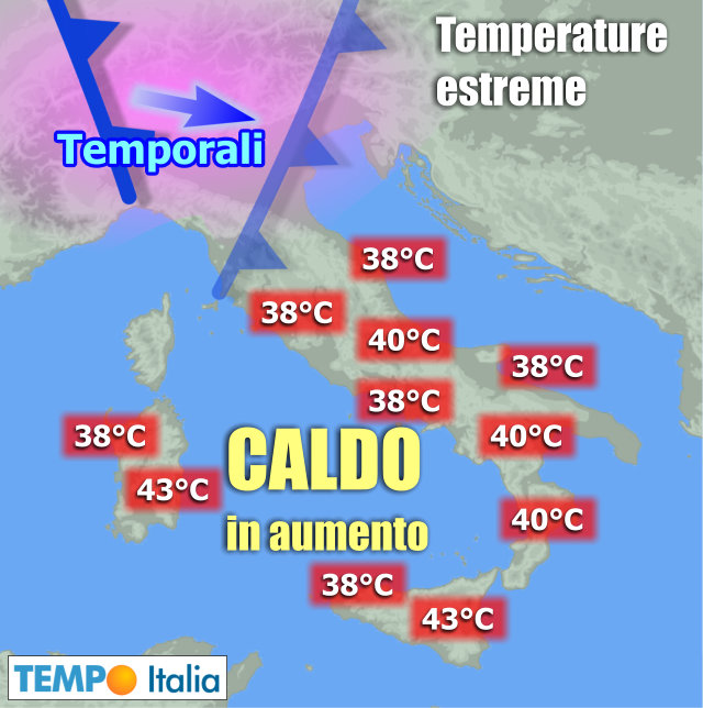 Nord Italia fuori dalla morsa del caldo, al Sud tregua nel weekend