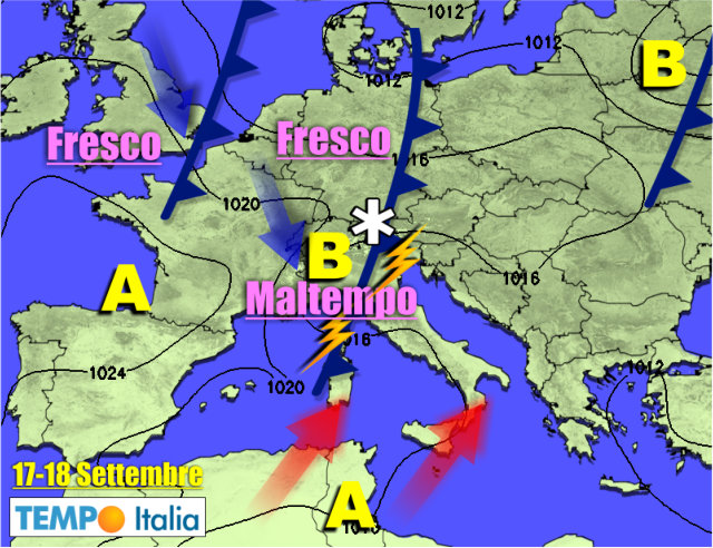 Meteo weekend, Italia spaccata in due