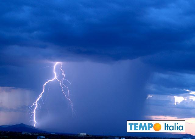 Maltempo: rovesci e temporali in arrivo al Sud