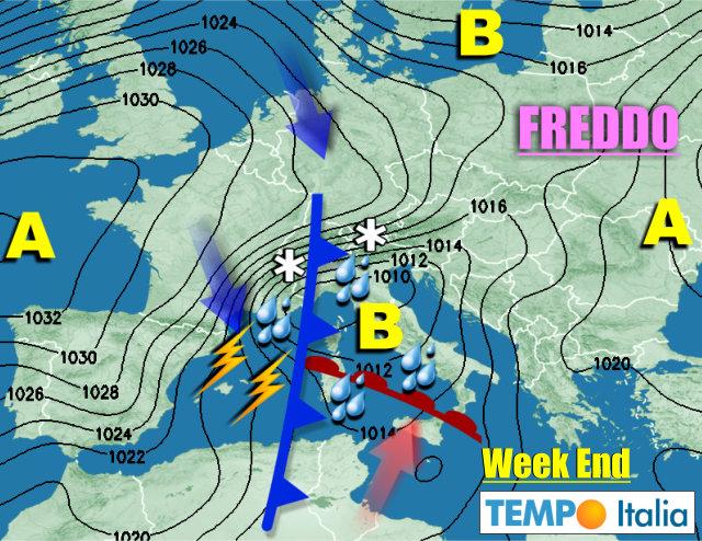 Meteo, le previsioni: domenica arrivano pioggia e neve ad alta quota