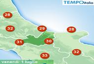 Meteo Molise: clima fresco con il sole e qualche nube sui monti. Tornerà il caldo e qualche temporale