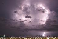CAGLIARI: tempesta di fulmini con nubifragio. Super temporale su mezza Sardegna