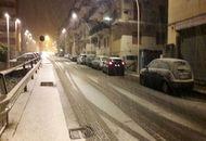 Sardegna neve sino alle coste, imbiancata Sassari