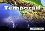 Forti temporali anche con grandine, raffiche di vento in Toscana