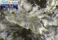 Meteo SICILIA, freddo in attenuazione, possibili piovaschi. Neve a 1000/1200 metri