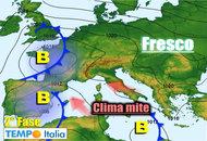 Trend METEO dal 26 Settembre al 2 Ottobre con accentuazione caratteristiche del clima autunnale