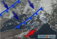 Meteo Italia: Paese diviso in due, neve su Alpi temporali al Centro Nord, quasi 39°C al Sud