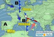METEO 22 – 28 Ottobre: l'Anticiclone potrebbe attenuarsi e dare spazio a peggioramento