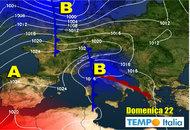 METEO dal 17 al 23 Ottobre: cambiamento con piogge anche abbondanti dopo metà settimana