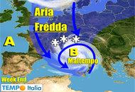 METEO dall'11 al 17 Novembre. Maltempo intermittente in varie regioni. Freddo in aumento