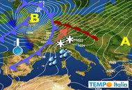 METEO dal 18 al 24 novembre: acuto maltempo Sud e Sicilia. Fronte freddo nel Week End