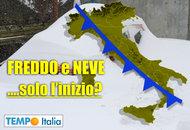 METEO ITALIA: Inverno al galoppo, la neve anticipata: ma è solamente l'inizio?