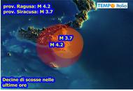 Terremoti in Sicilia, ormai è marcato sciame sismico. La più intensa è stata di Magnitudo 4.2