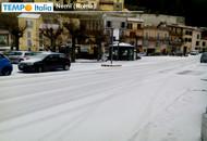 Roma, sud della provincia imbiancata da grandine e neve