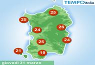Sardegna: primi 30 gradi in vista?