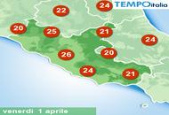 Roma caldo sempre più marcato, è atteso picco di 27°C