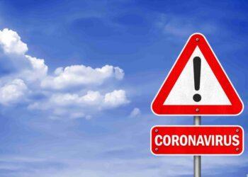 Coronavirus - road sign information message