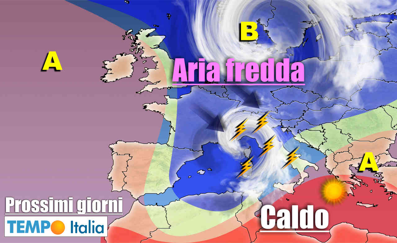 meteo prossimi giorni instabile con temporali - METEO sino al 15 Giugno: ulteriore raffica di temporali su Italia