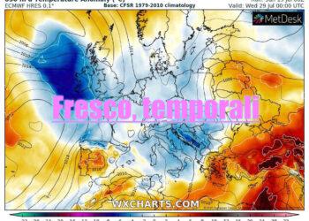 fresco temporali su europa e italia 350x250 - ONDATA DI CALDO: Estate defunta? No! Incerta, ecco i 40 gradi