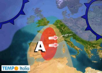 Ondata di caldo causata da un anomalo anticiclone.