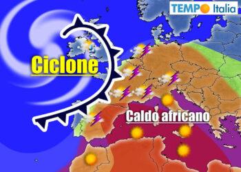 ciclone oceanico richiama caldo africano su italia 350x250 - ONDATA DI CALDO: Estate defunta? No! Incerta, ecco i 40 gradi