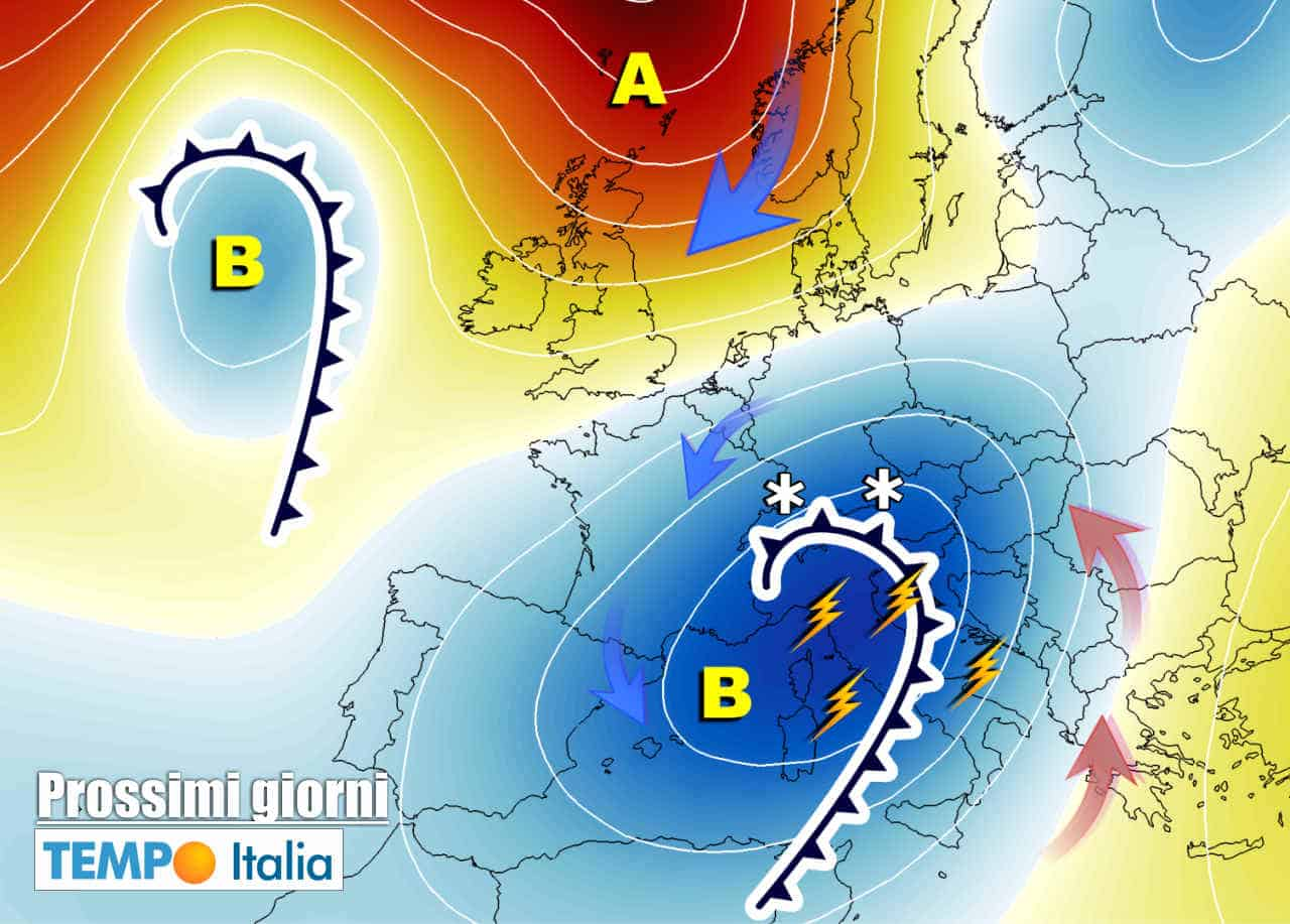 meteo prossimi giorni perturbato con successivo miglioramento - Forte maltempo su Italia, poi meteo in parziale miglioramento. Freddo