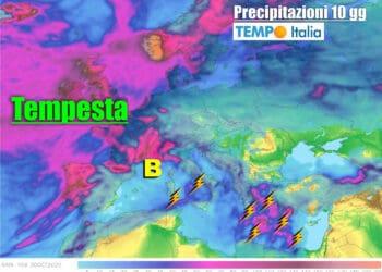 Precipitazioni attese prossimi 10 giorni.