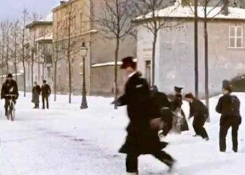 1896 nevicata a Lione.