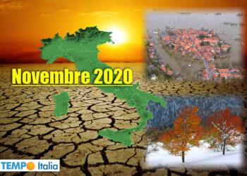 Meteo estremo di novembre in Italia.