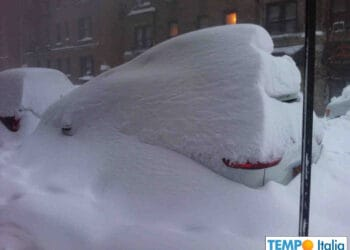 Gran neve al Nord Italia.