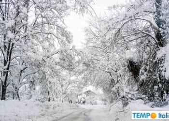 Previsioni meteo di neve in Italia.