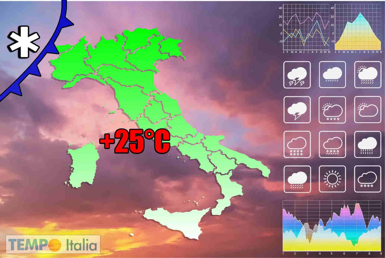 evoluzione meteo prossimi giorni - Caldo d'Africa in Italia. Ma verso Pasqua, neve sulle Alpi