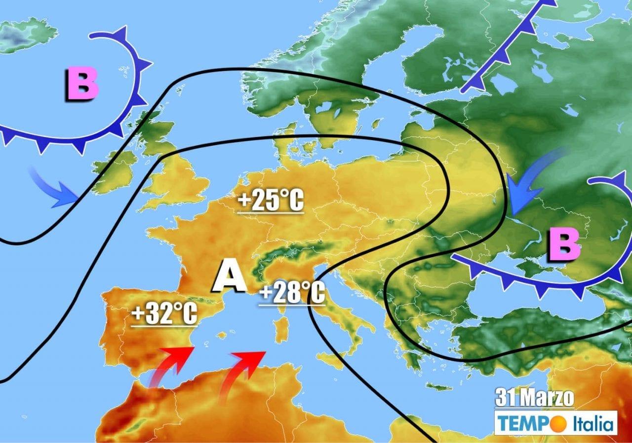 meteo prossimi giorni 3 - Meteo Italia: caldo fuori stagione. Da Pasqua peggioramento con temporali