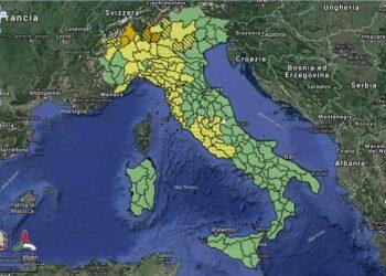 Maltempo: allerta arancione su Lombardia e Piemonte