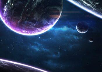 Sistema planetario migliaia di anni luce lontano dalla Terra. Elementi di questa immagine fornita dalla NASA